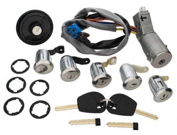 Citroen Berlingo 02-08 Vžigalni komplet + 5x ključavnice / sodi / ključavnični vložki + tesnilna kapa / komplet pokrovčka rezervoarja za gorivo